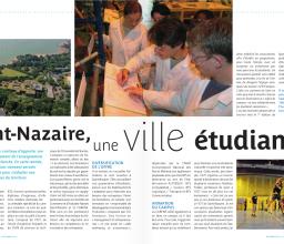 Les étudiants dans le Saint-Nazaire Magazine d'octobre