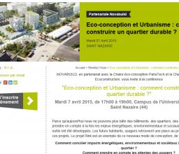 Eco-conception et Urbanisme : comment construire un quartier durable ?