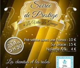 Le BDE du CESI de Saint-Nazaire organise une Soirée de Prestige à la Villa La Grange.