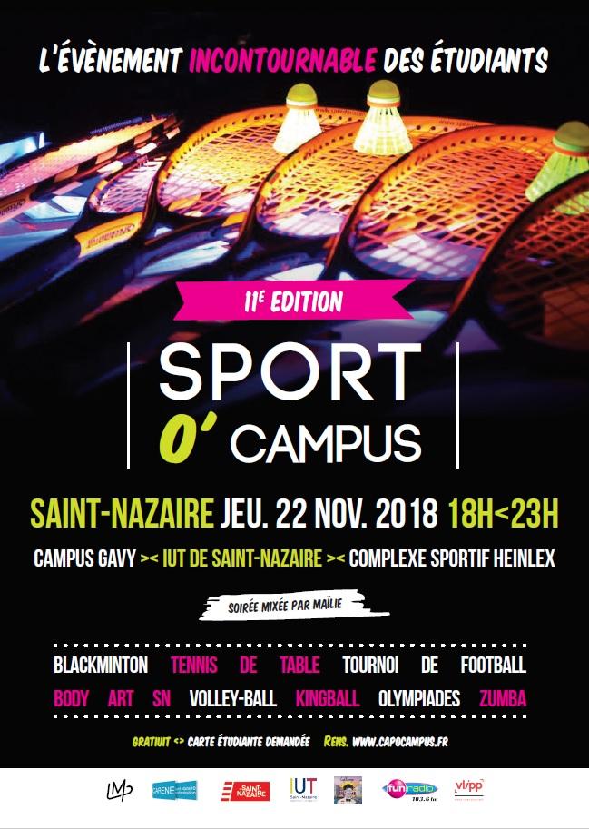 Sport O'Campus, 11ème édition @ IUT Saint-Nazaire