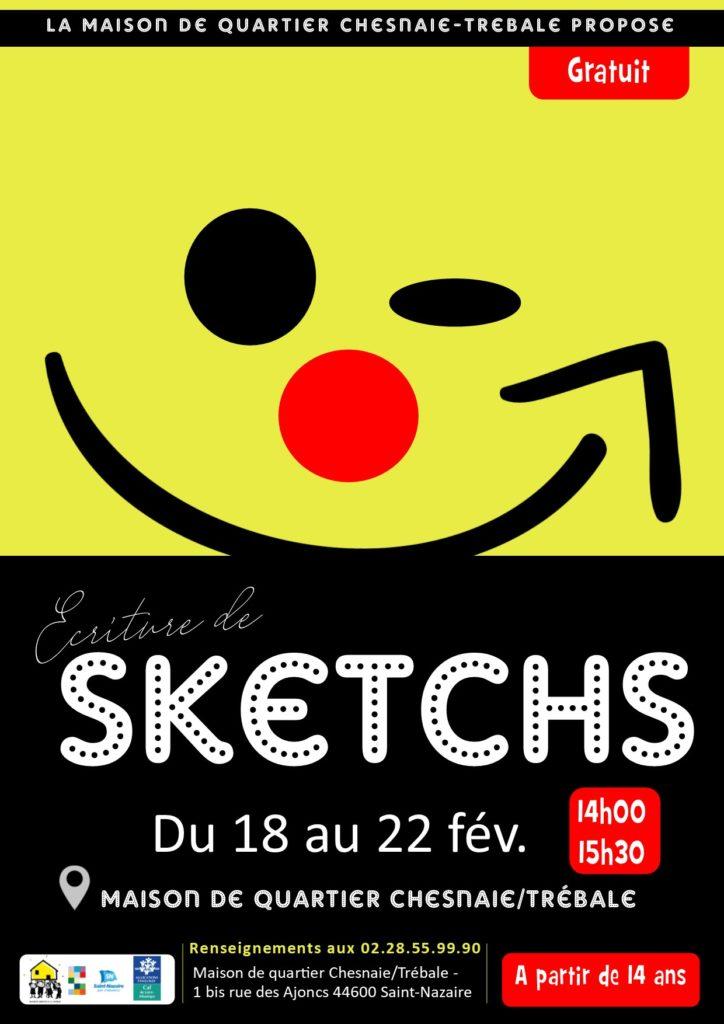 Stage / Écriture de Sketchs @ Maison de Quartier Chesnaie/Trébale